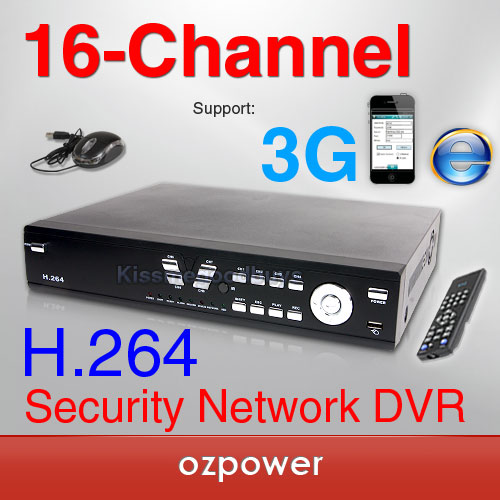 NEW 16CH Standalone H.264 CCTV DVR WIFI Real-Time Alarm